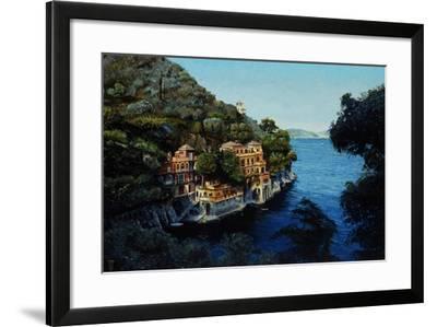 Villa, Portofino, from Hotel Picolo, Liguria, 1998-Trevor Neal-Framed Giclee Print