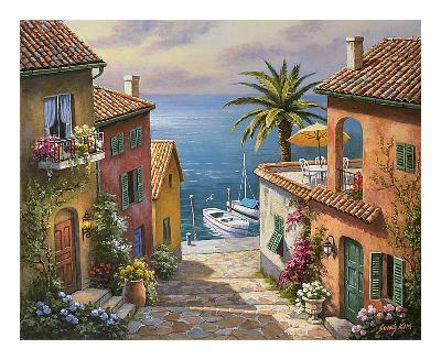 Villa?s Private Dock-Sung Kim-Art Print