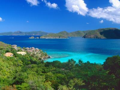 Villa with a View, Saint John, US Virgin Islands-George Oze-Photographic Print