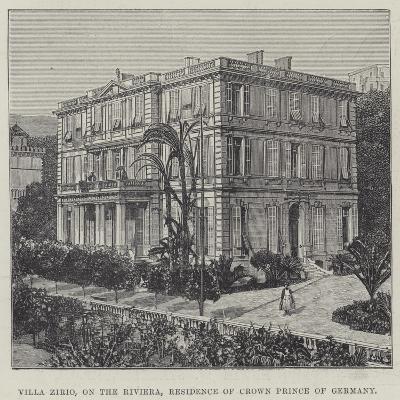 Villa Zirio, on the Riviera, Residence of Crown Prince of Germany--Giclee Print