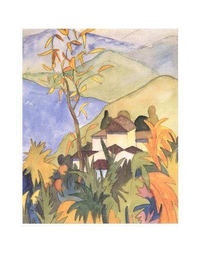 Village Above the Lake-Herman Hesse-Collectable Print