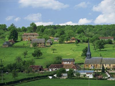 Village and Farms of Camembert, Famous for Cheese, in Basse Normandie, France, Europe-Woolfitt Adam-Photographic Print