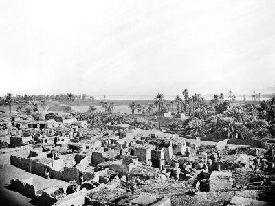 Village at Karnak, Nubia, Egypt, 1887-Henri Bechard-Giclee Print