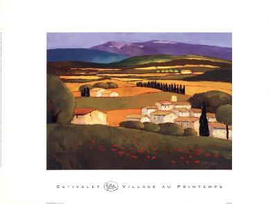 Village au Printemps-Elisabeth Estivalet-Art Print