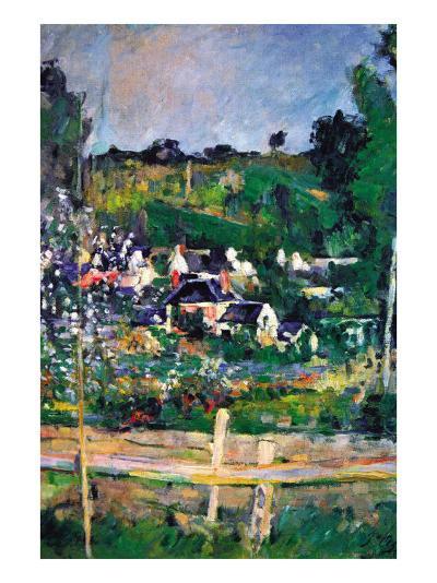 Village Behind The Fence-Paul C?zanne-Art Print