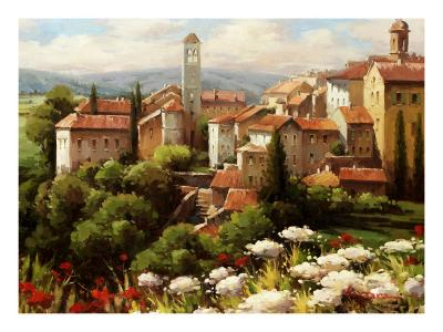 Village Bell Tower-Lazzara-Art Print