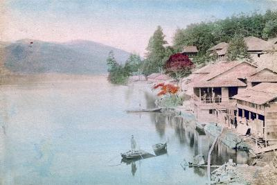 Village by Water, Japan--Giclee Print