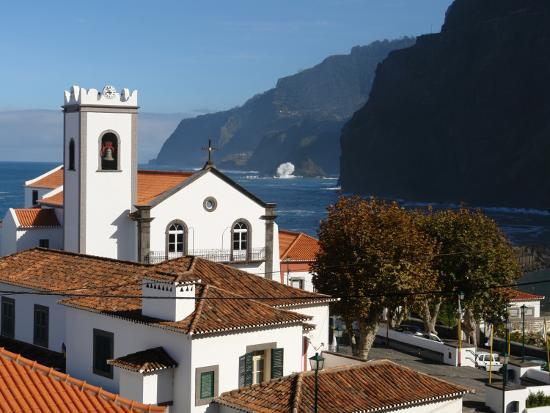 Village Church at Ponta Delgada, Madeira--Photographic Print