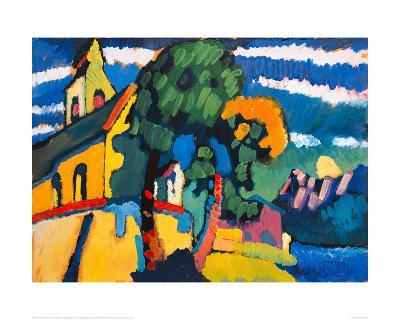 Village Church in Riegsee, Bavaria, 1907-Wassily Kandinsky-Giclee Print