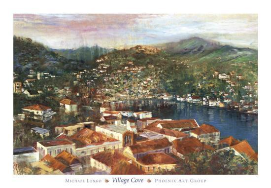 Village Cove-Michael Longo-Art Print