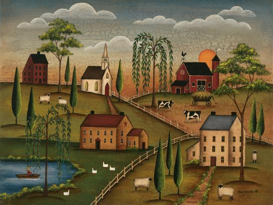 Village Day-Kim Lewis-Art Print