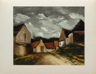 Village de la Sarthe, 1953-Maurice De Vlaminck-Collectable Print