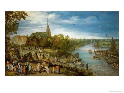Village Fair in Schelle, 1614-Jan Brueghel the Elder-Giclee Print