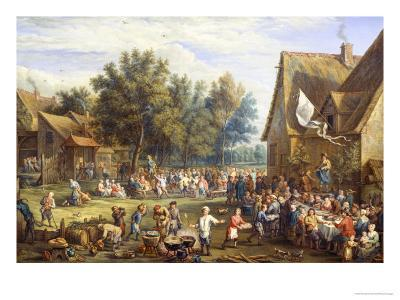 Village Feast-Constantin Coene-Giclee Print