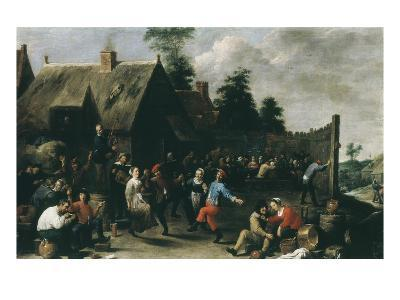 Village Festival, 1637-David Teniers the Younger-Giclee Print