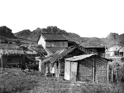 Village Huts in Korea, 1900--Giclee Print