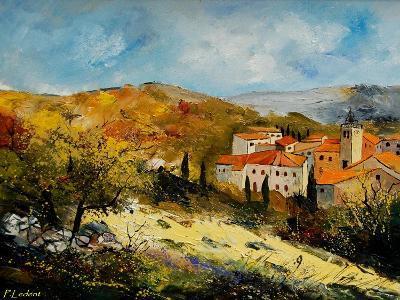 Village In Provence-Pol Ledent-Art Print