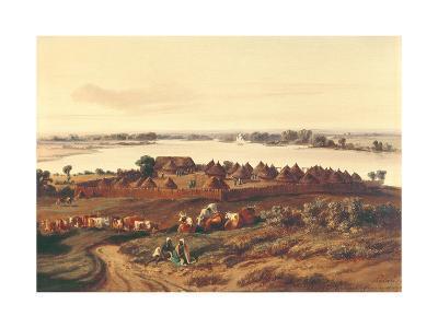 Village in Senegal-Edouard Auguste Nousveaux-Giclee Print