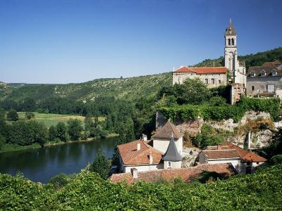 Village of Albas, Near Cahors, Lot, Midi-Pyrenees, France-Michael Busselle-Photographic Print