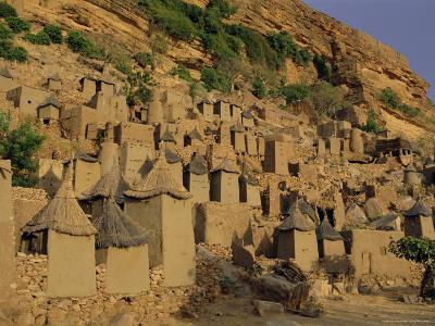 Village of Banani, Sanga (Sangha) Region, Bandiagara Escarpment, Dogon Region, Mali, Africa-Bruno Morandi-Photographic Print