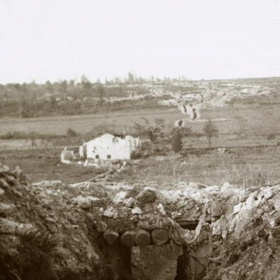 Village of Damloup, northern France, c1914-c1918-Unknown-Photographic Print