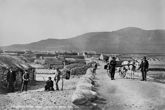 Village of Duagh, Achill Island, County Mayo, Ireland, C.1890-Robert French-Giclee Print