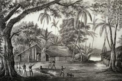 Village of Manevai to Vanikoro--Giclee Print