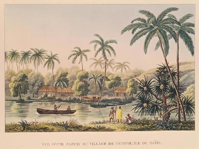 "Village of Matavae, Tahiti, from ""Voyage Autour Du Monde Sur La Corvette Coquille""--Giclee Print"