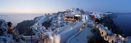 Village of Oia (La), Santorini (Thira), Cyclades Islands, Greece-Gavin Hellier-Photographic Print