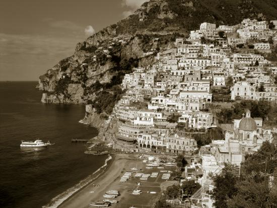 Village of Positano, Amalfi Coast, Campania, Italy-Steve Vidler-Photographic Print