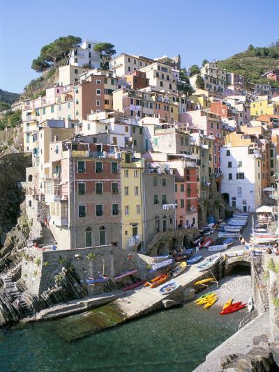 Village of Riomaggiore, Cinque Terre, Unesco World Heritage Site, Liguria, Italy-Richard Ashworth-Photographic Print