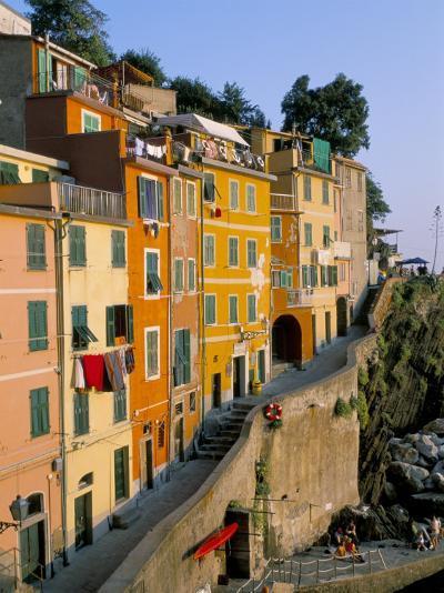 Village of Riomaggiore, Cinque Terre, Unesco World Heritage Site, Liguria, Italy-Bruno Morandi-Photographic Print