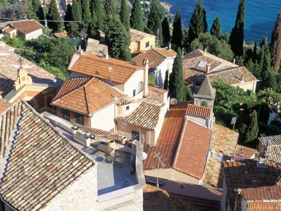 Village of Roquebrune-Cap-Martin, Alpes Maritimes, Cote d'Azur, Provence, France-Bruno Barbier-Photographic Print