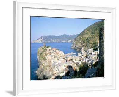 Village of Vernazza, from the East, Cinque Terre, Unesco World Heritage Site, Liguria, Italy-Richard Ashworth-Framed Photographic Print