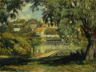 Village on the Banks of the River-Henri Lebasque-Giclee Print