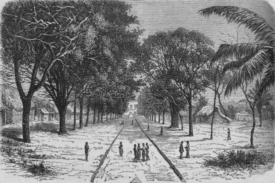 'Village on the West Coast of Africa', c1880-Unknown-Giclee Print