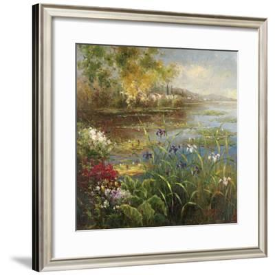 Village Pond-Hulsey-Framed Art Print