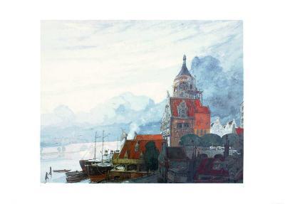 Village Pres de la Mer-Georges de Feure-Art Print