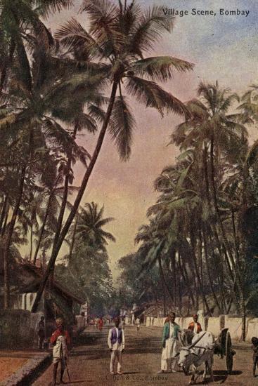 Village Scene, Bombay--Photographic Print