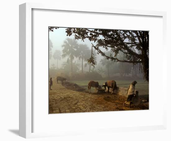 Village Scene, Vaishali, India-James Gritz-Framed Photographic Print