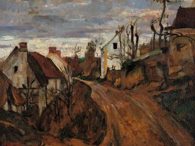 Village Street in Auvers-Paul C?zanne-Giclee Print