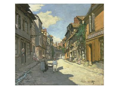 Village Street in Normandy (Rue De La Bavolle, Honfleur), about 1867-Claude Monet-Giclee Print
