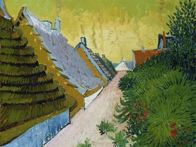 Village Street in Saintes-Maries, 1888-Vincent van Gogh-Giclee Print