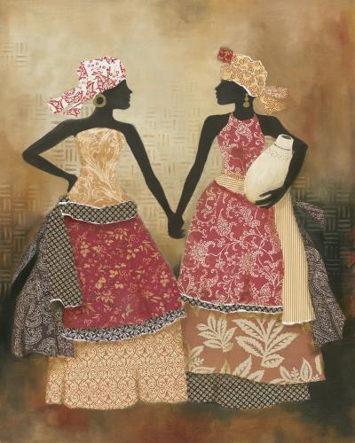 Village Women I-Carol Robinson-Art Print