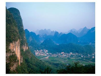 Village Wulingyuan Mountains--Art Print