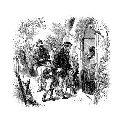 Villagers Going to Church on Sunday, London, 1872--Giclee Print