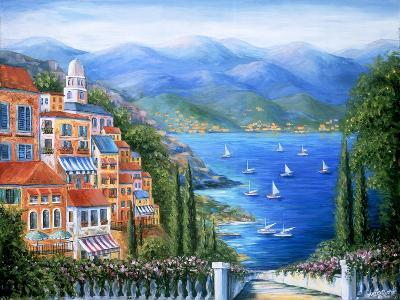 Villaggio Italiano Sul Lago-Marilyn Dunlap-Art Print