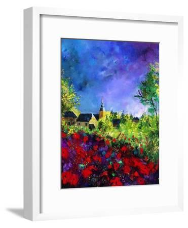 villers red poppies-Pol Ledent-Framed Art Print