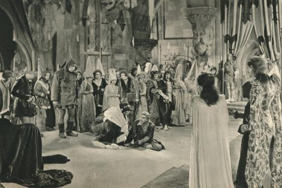 'Villon (John Barrymore) threatened with death by Louis XI', 1927-Unknown-Photographic Print