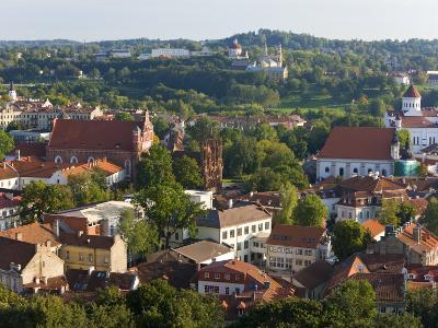 Vilniusview over the Old Town, Lithuania-Gavin Hellier-Photographic Print